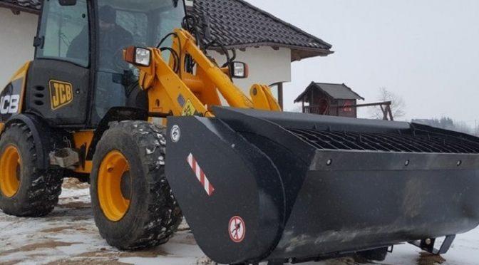 Łyżka mieszalnikowa dla firmy budowlanej